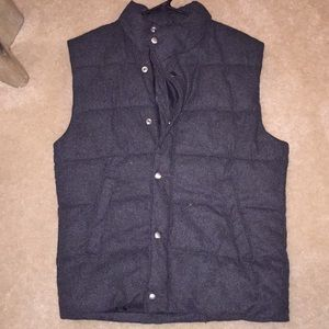 H&M charcoal gray puffy vest